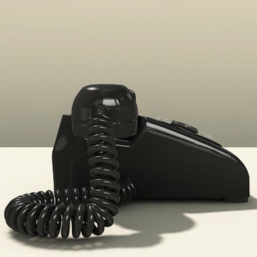 Téléphone noir royalty-free 3d model - Preview no. 10