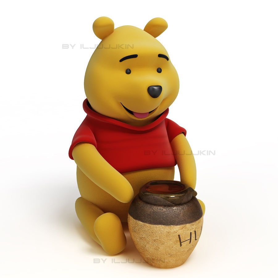 Winnie the pooh Hunny royalty-free 3d model - Preview no. 4