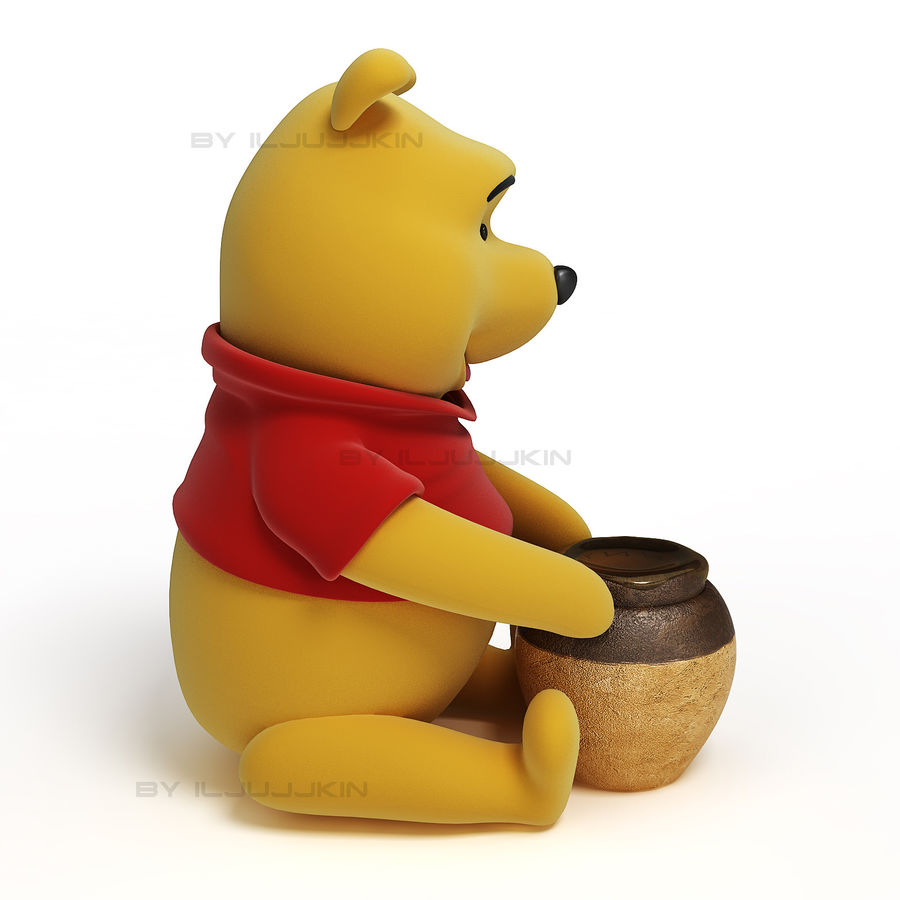 Winnie the pooh Hunny royalty-free 3d model - Preview no. 2