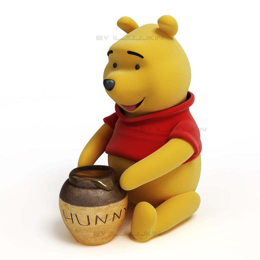 Winnie the pooh Hunny royalty-free 3d model - Preview no. 1