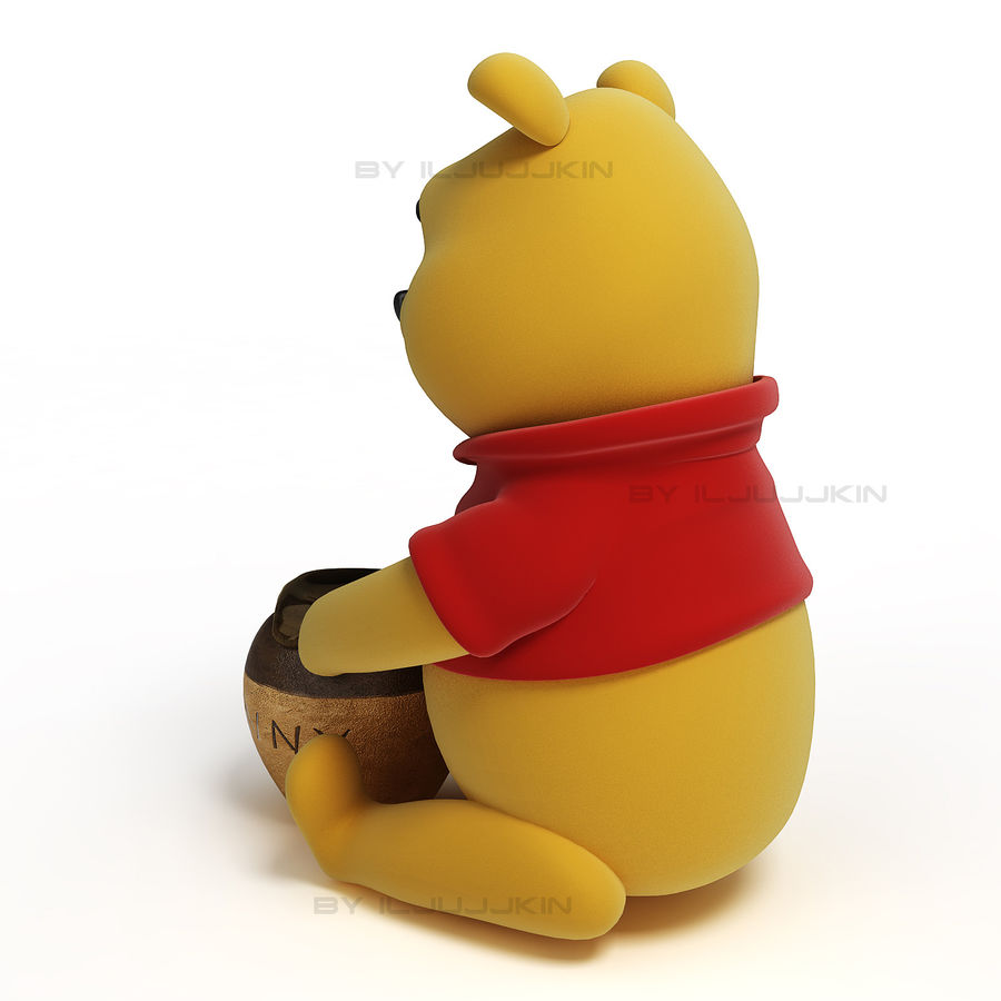 Winnie the pooh Hunny royalty-free 3d model - Preview no. 3