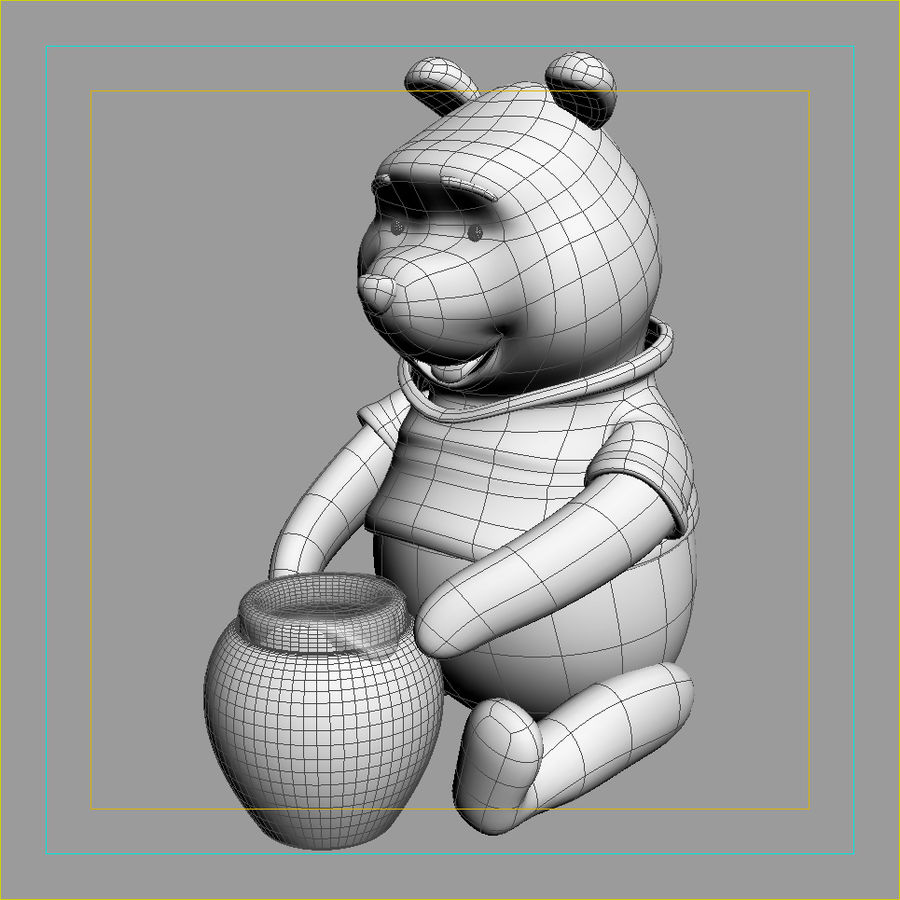 Winnie the pooh Hunny royalty-free 3d model - Preview no. 5