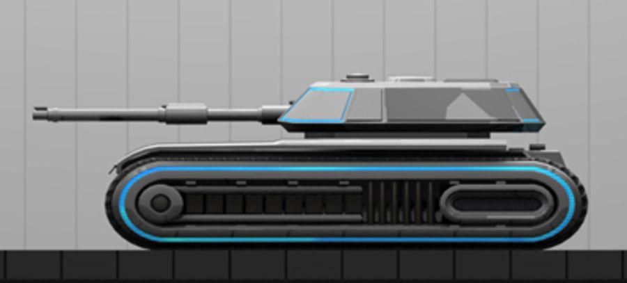 未来派坦克 royalty-free 3d model - Preview no. 12