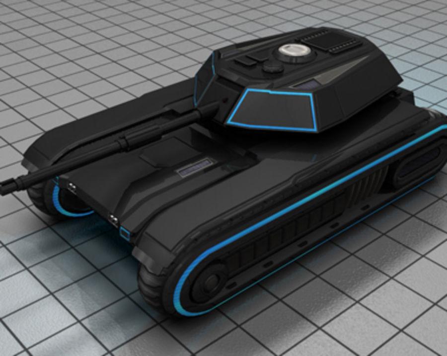 未来派坦克 royalty-free 3d model - Preview no. 5