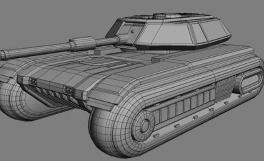 未来派坦克 royalty-free 3d model - Preview no. 8