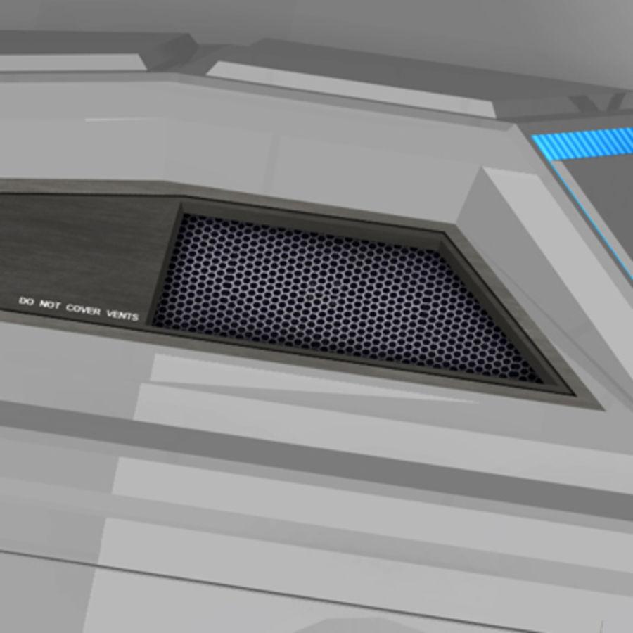 未来派坦克 royalty-free 3d model - Preview no. 4