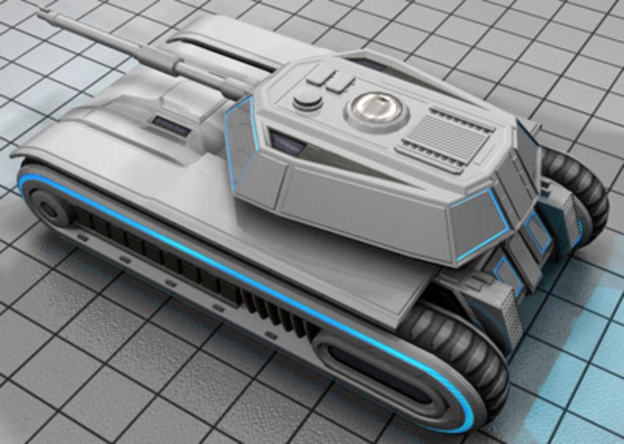 未来派坦克 royalty-free 3d model - Preview no. 3