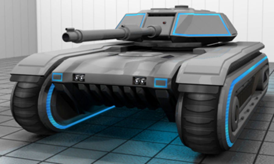 未来派坦克 royalty-free 3d model - Preview no. 1