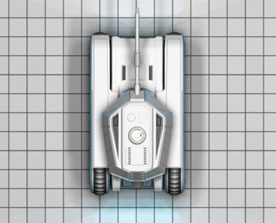 未来派坦克 royalty-free 3d model - Preview no. 11