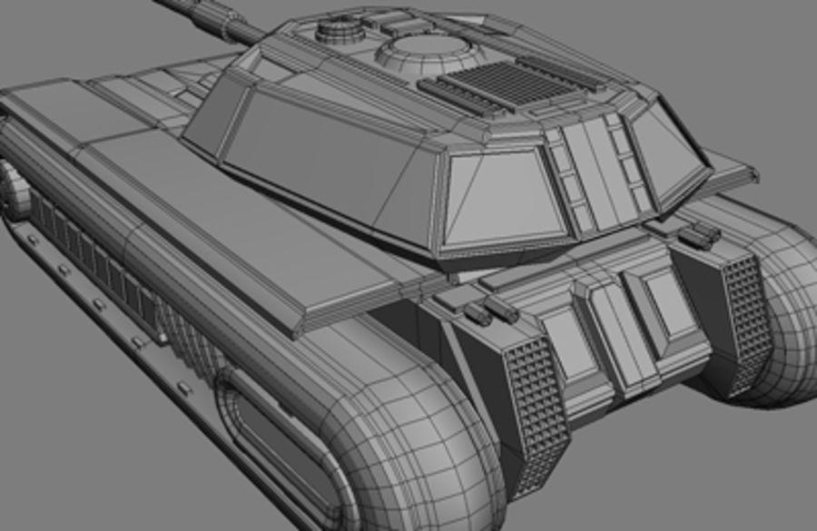 未来派坦克 royalty-free 3d model - Preview no. 7