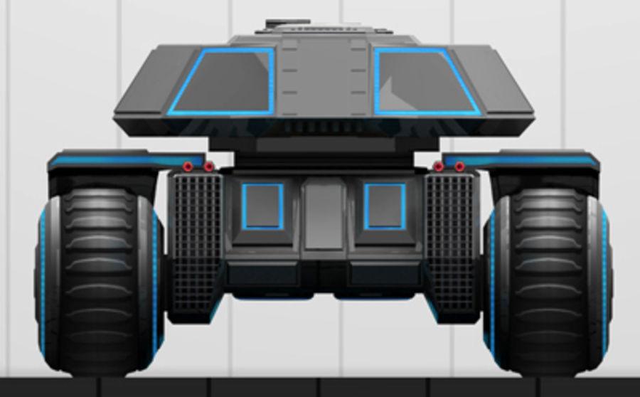 未来派坦克 royalty-free 3d model - Preview no. 10