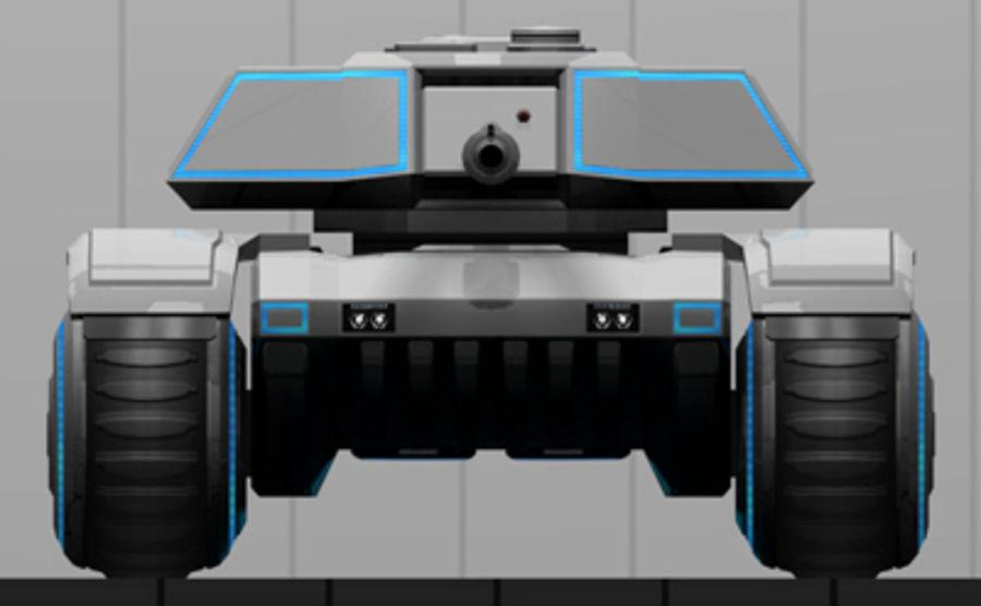 未来派坦克 royalty-free 3d model - Preview no. 9