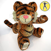 Tiger plush toy 3d model
