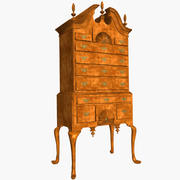 Queen Anne Highboy Chest 3d model