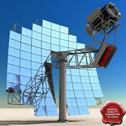 Stirling Solar Unit 3d model