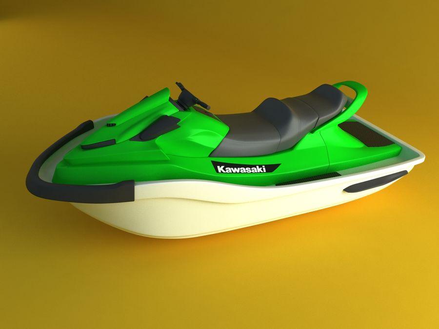 kawasaki jet ski royalty-free 3d model - Preview no. 1