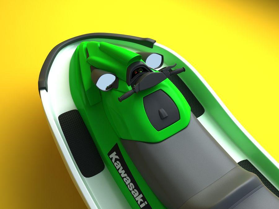 kawasaki jet ski royalty-free 3d model - Preview no. 3