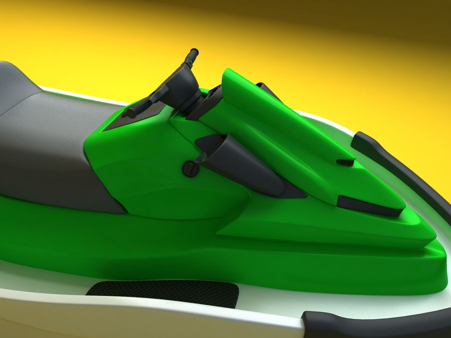 kawasaki jet ski royalty-free 3d model - Preview no. 4