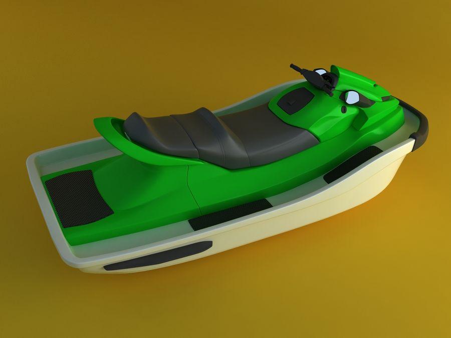 kawasaki jet ski royalty-free 3d model - Preview no. 2