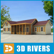 Small town house 36 by 3DRivers 3d model