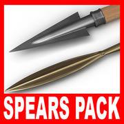 Pacote Spears 3d model