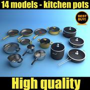 Kitchen Pots 3d model