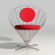 wire cone chair 3d model