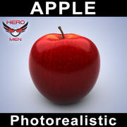 Apple photorealistic 3d model