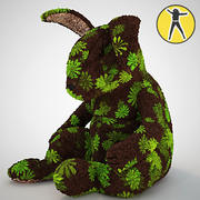 Плюшевая игрушка кролик 3d model