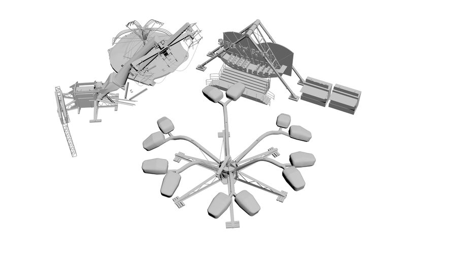 New York Fun Park royalty-free 3d model - Preview no. 2