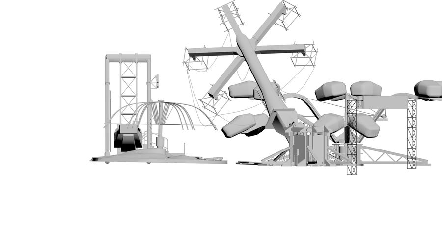 New York Fun Park royalty-free 3d model - Preview no. 1
