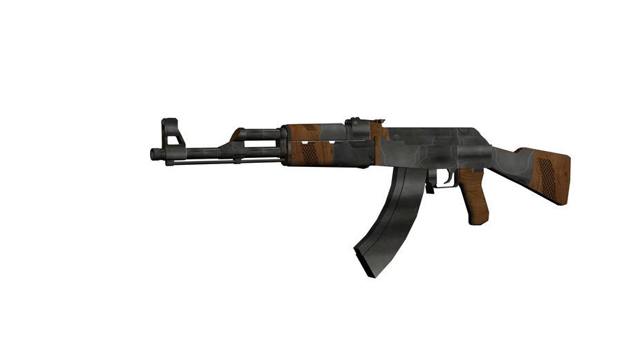 AK 47 royalty-free 3d model - Preview no. 1