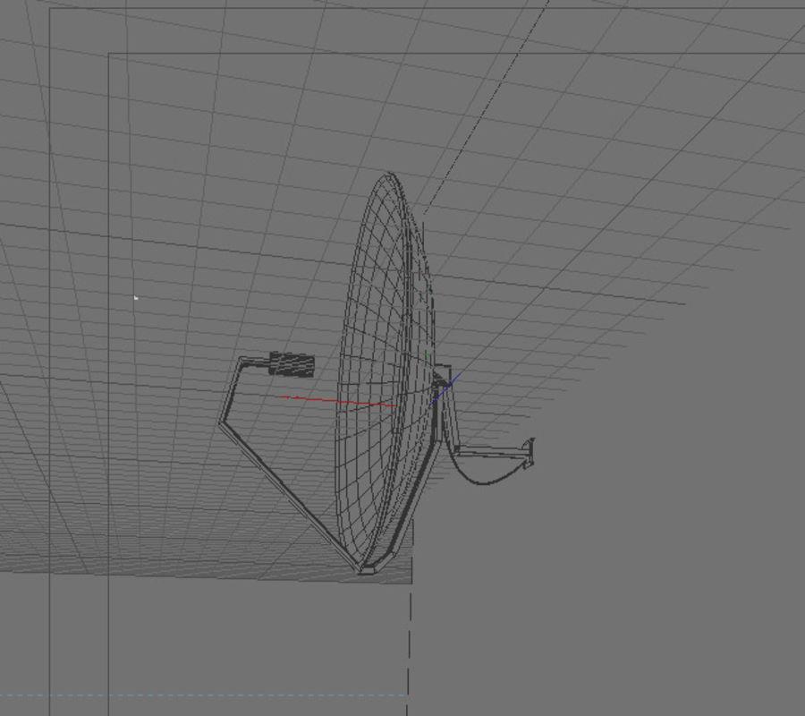 Antena parabólica royalty-free 3d model - Preview no. 4