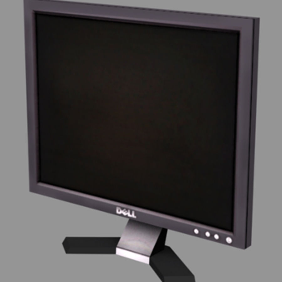 Dell LCD-monitor royalty-free 3d model - Preview no. 1