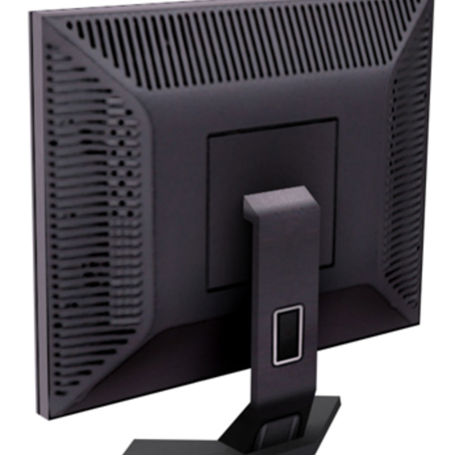 Dell LCD-monitor royalty-free 3d model - Preview no. 2