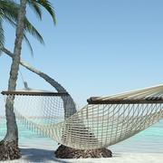 Beach Hammock 3d model