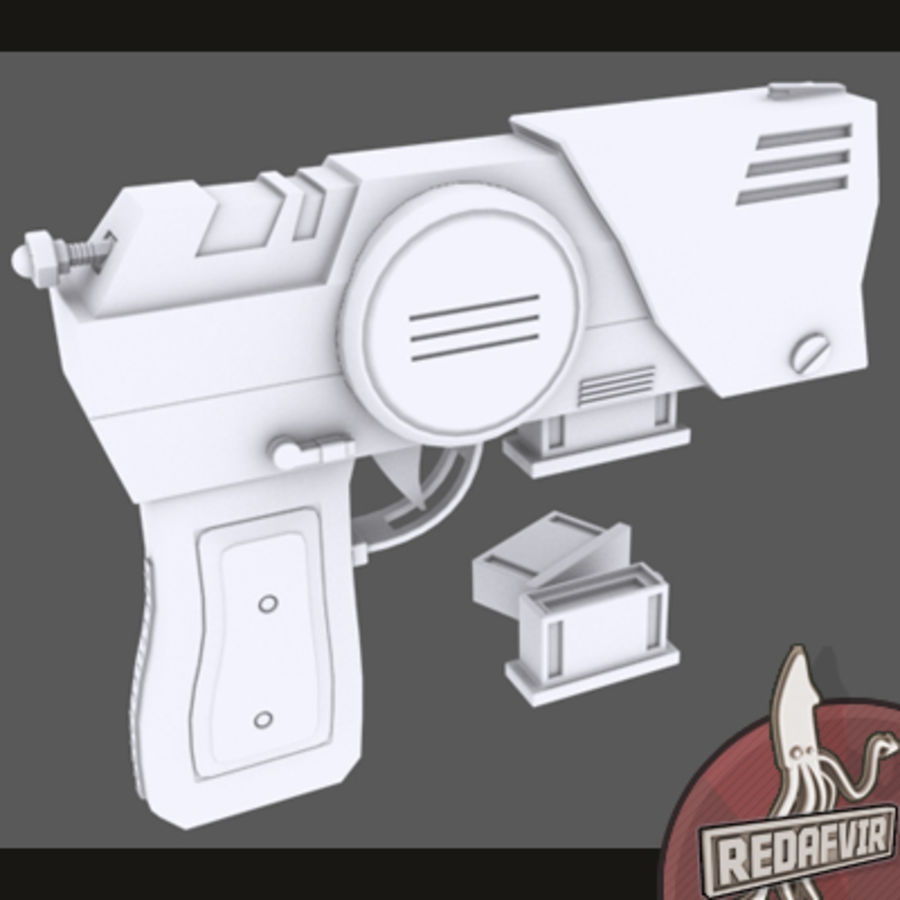 Sci fi Pistol and Clip royalty-free 3d model - Preview no. 2