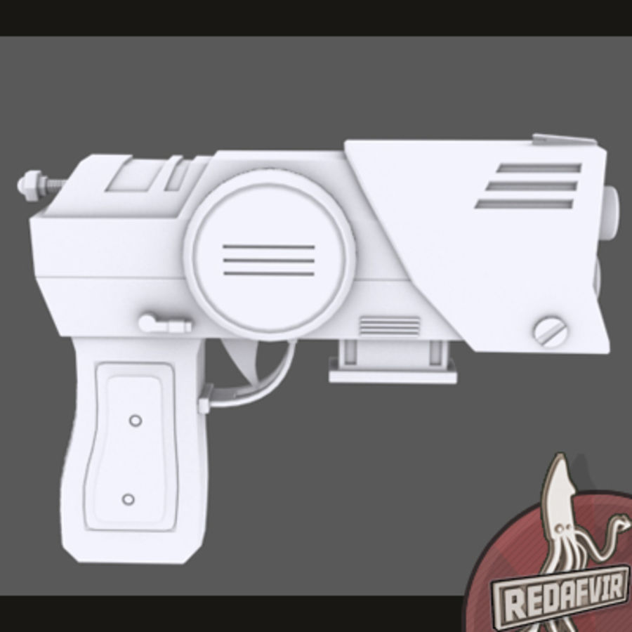Sci fi Pistol and Clip royalty-free 3d model - Preview no. 8
