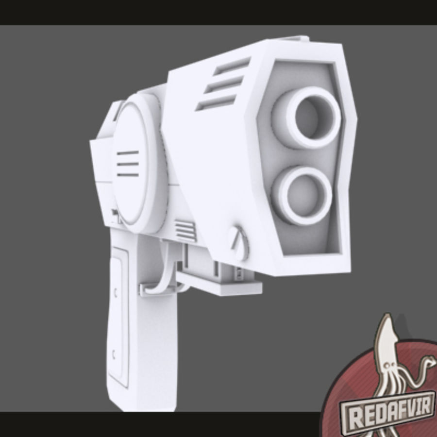 Sci fi Pistol and Clip royalty-free 3d model - Preview no. 4