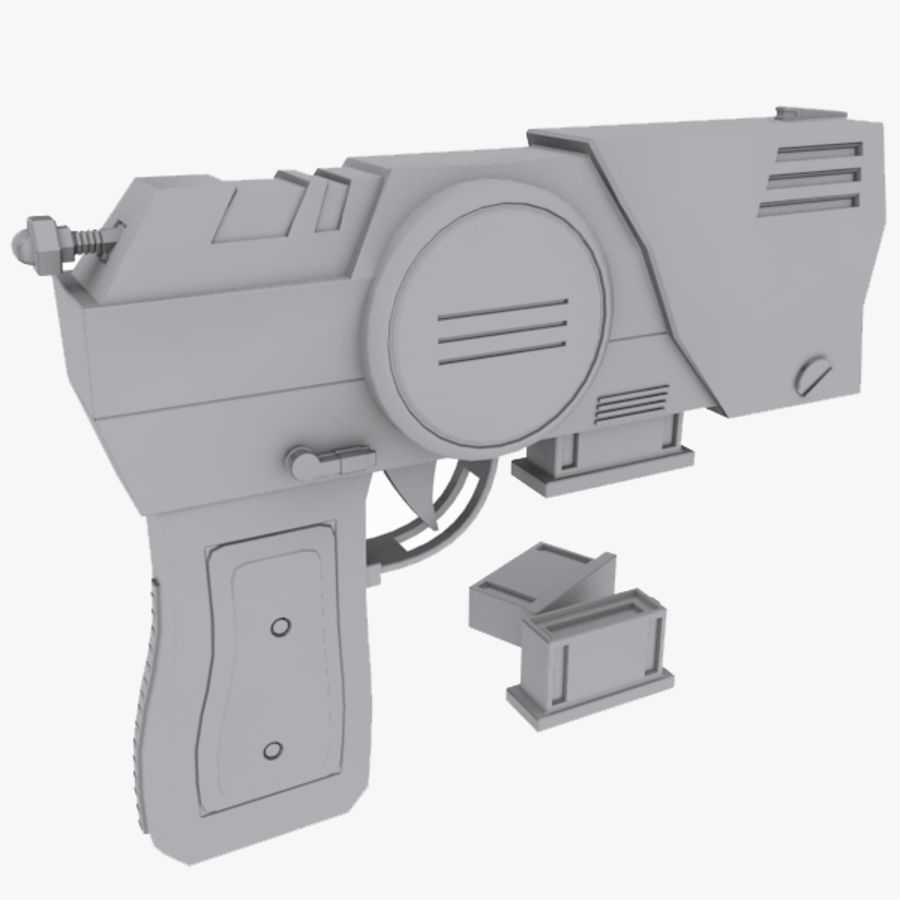 Sci fi Pistol and Clip royalty-free 3d model - Preview no. 1