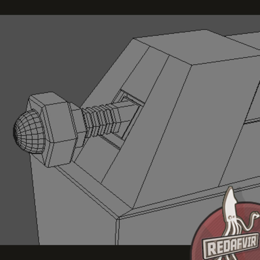 Sci fi Pistol and Clip royalty-free 3d model - Preview no. 11