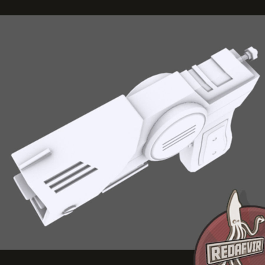Sci fi Pistol and Clip royalty-free 3d model - Preview no. 6