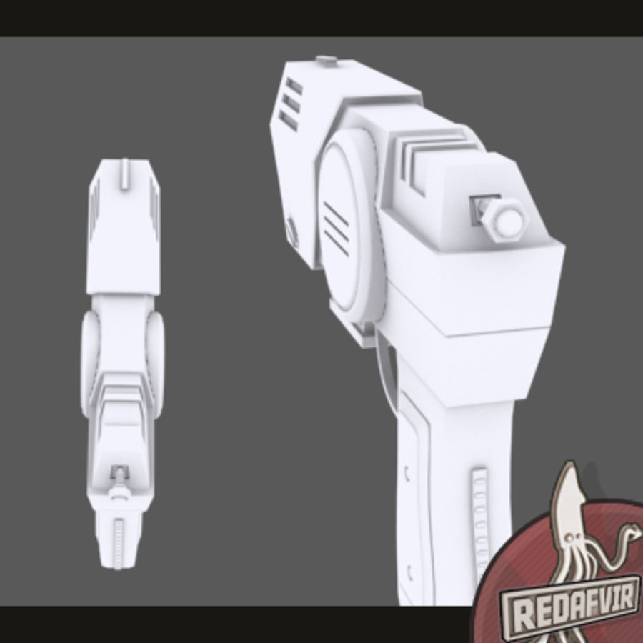Sci fi Pistol and Clip royalty-free 3d model - Preview no. 3