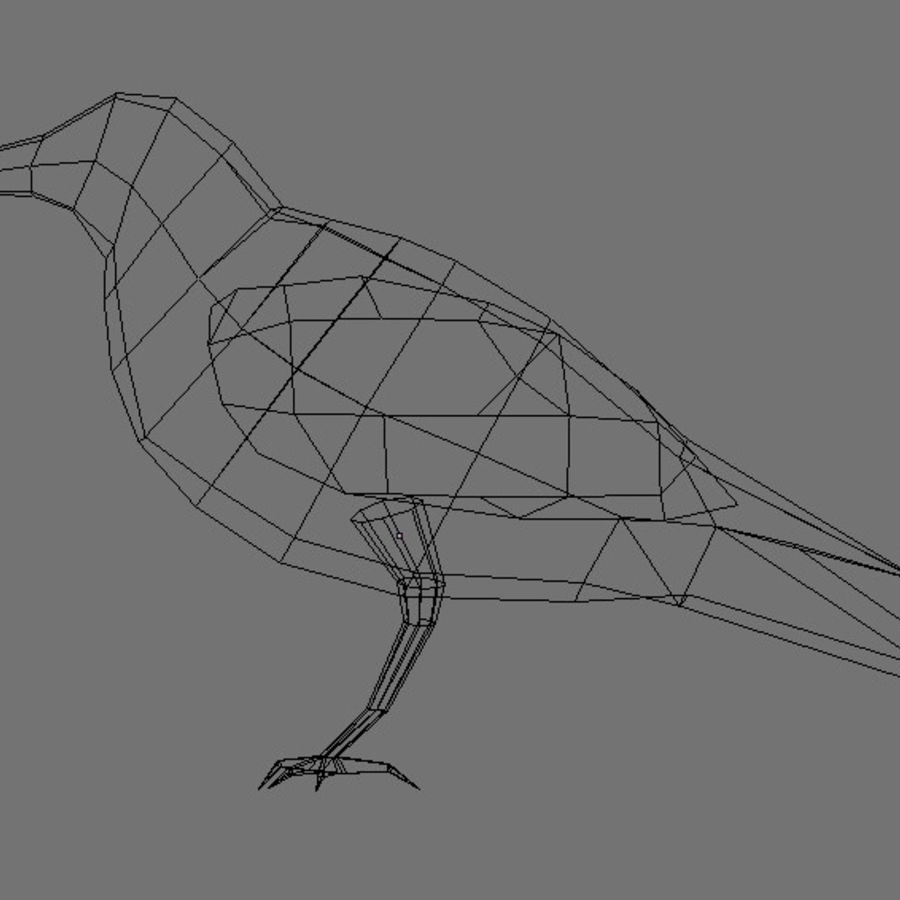 Raven,  low poly royalty-free 3d model - Preview no. 4