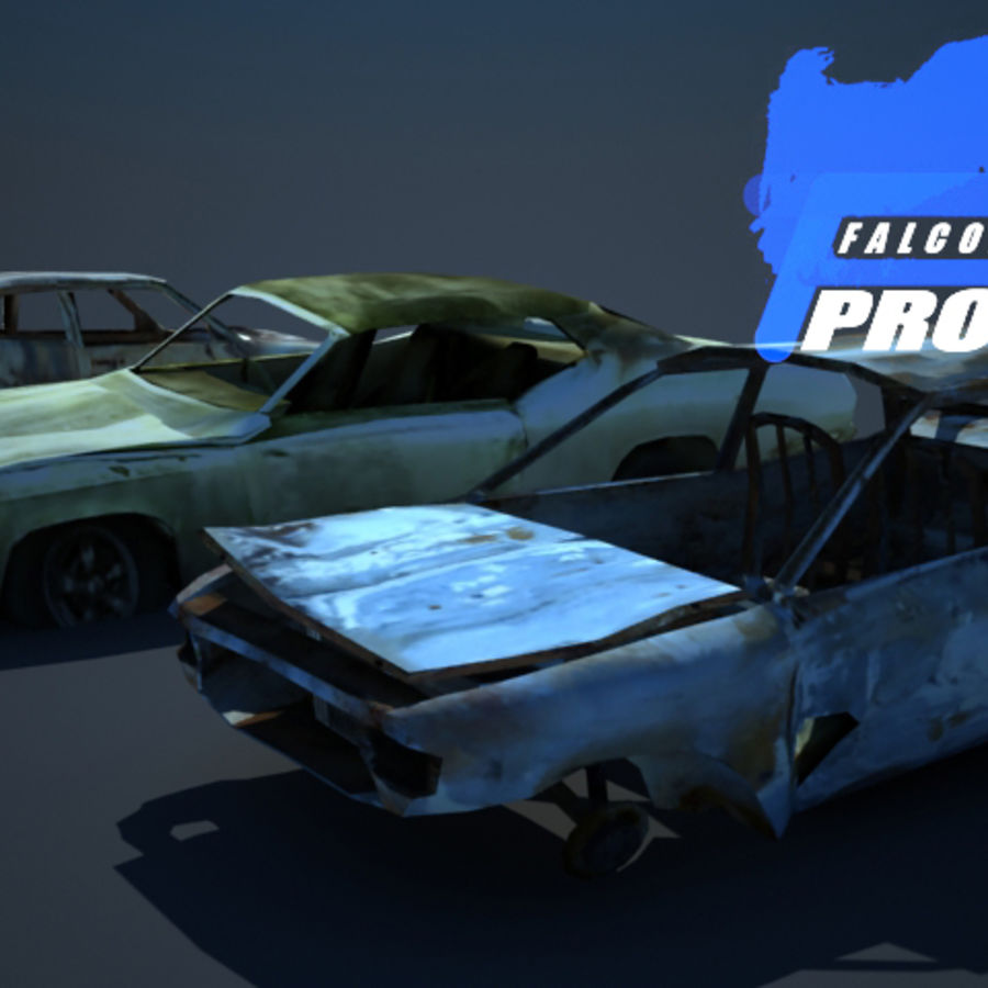 Wreak Cars Collection I royalty-free 3d model - Preview no. 3