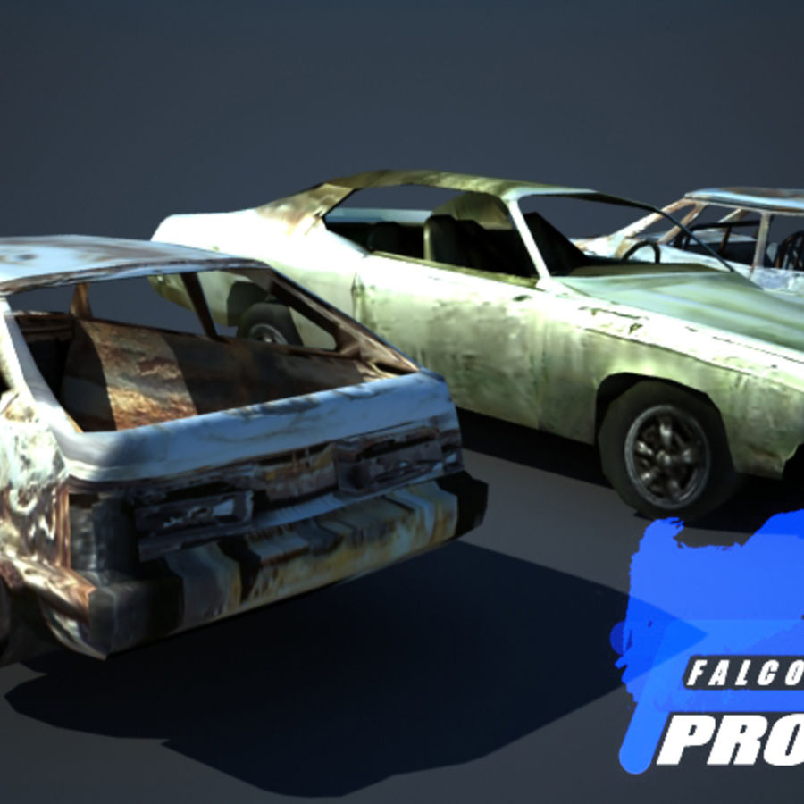 Wreak Cars Collection I royalty-free 3d model - Preview no. 8