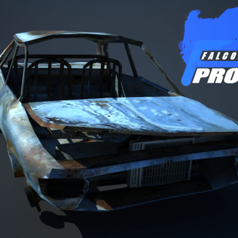 Wreak Cars Collection I royalty-free 3d model - Preview no. 9