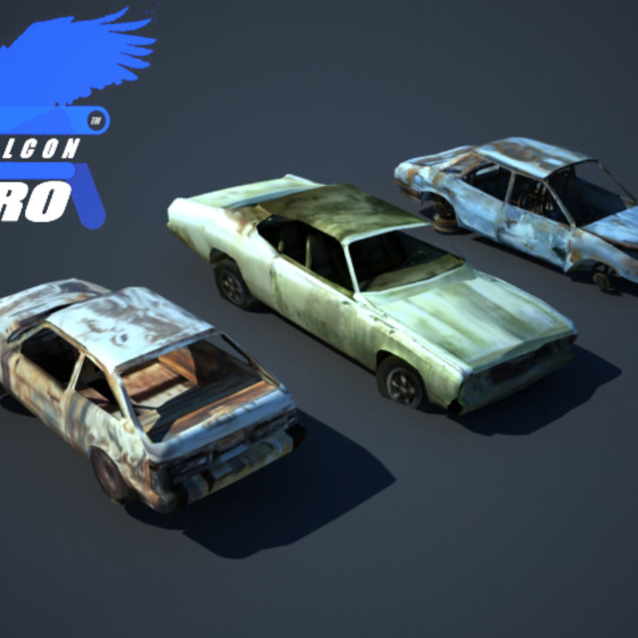 Wreak Cars Collection I royalty-free 3d model - Preview no. 1