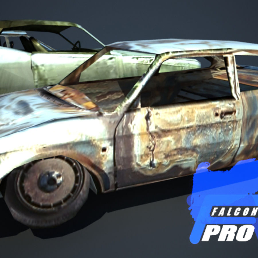 Wreak Cars Collection I royalty-free 3d model - Preview no. 7