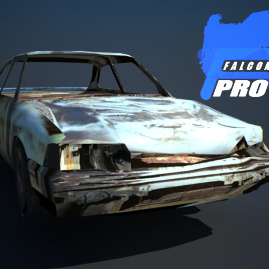 Wreak Cars Collection I royalty-free 3d model - Preview no. 6